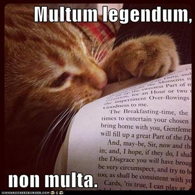 multum legendum non multa